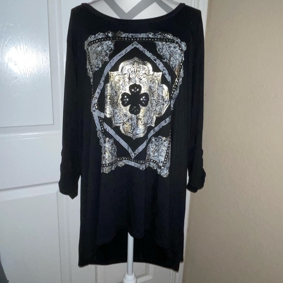 TORRID Black Shirt With Cut Outs On Sleeves